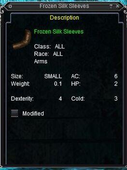 Frozen Silk Sleeves
