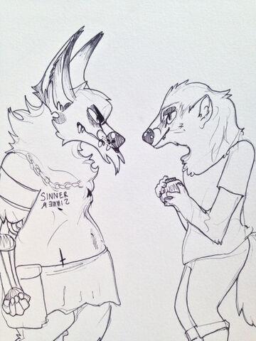 File:Samiran and frederik with honey jar by samiran coyote.jpg