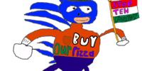 Sanic Works At Pizza Hut