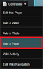 Add a Page location