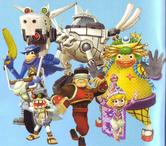Five costumes