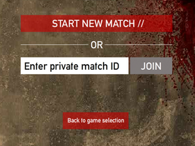 Private Match Screen
