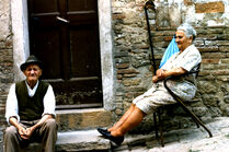 Old italian couple