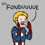 Fondue captain america