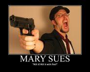Motiv - mary sues kill it with fire