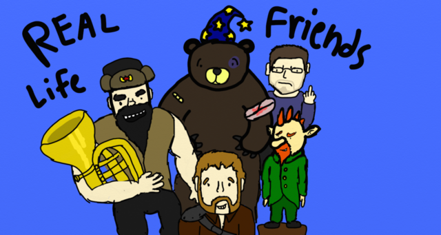 File:Real life friends podcast fan art by aborigene7-d5onvg4.png