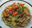 Emincé de poulet aux légumes