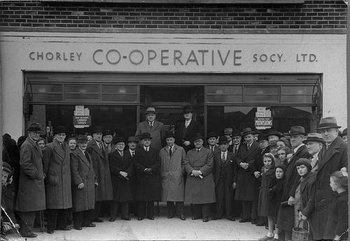 File:Opening of Chorley Co-operative Society store, Birkacre, Coppull. c 1930s..jpg