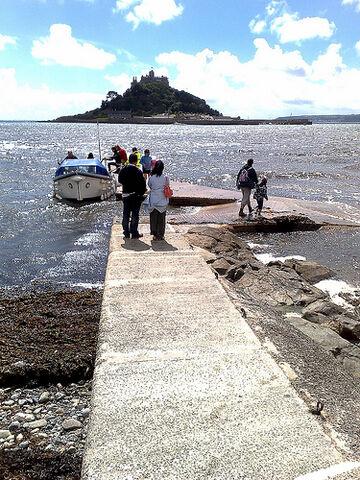 File:St. Michael's Mount Ferry, Cornwall.jpg