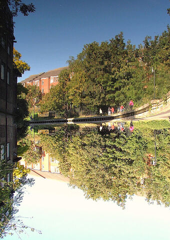 File:Reflection - A World Upside Down - Kings Cross Canal - London, England - Saturday September 15th 2007.jpg