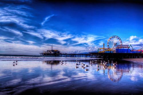File:Santa Monica Pier after a storm.jpg