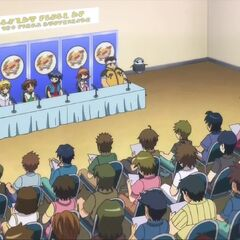 Team Jet meeting the press in episode 44.