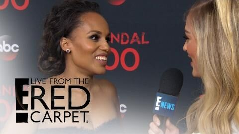 "Kerry Washington Talks 100th ""Scandal"" Episode E! Live from the Red Carpet"