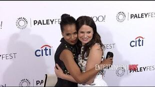 Scandal Cast Kerry Washington, Tony Goldwyn, Scott Foley, Katie Lowes, Bellamy Young 2015 Payleyfest