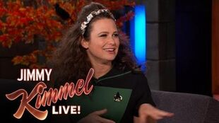 Katie Lowes Got a Dead Bat from Guillermo Diaz