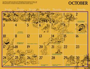 1976 sesame calendar 10 october 2