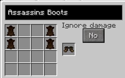 Assassins boots recipe
