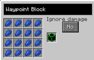 Waypoint block recipe