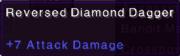 Reversed diamond dagger stats