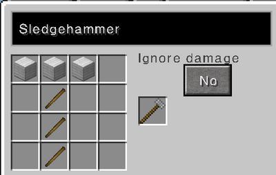 Sledgehammer recipe