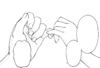 Makoto and Kokoro pinky swear
