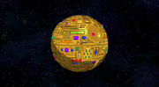 Remote-controlled solid gold Death Star