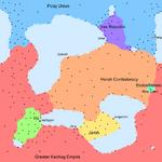 Dzajhema Political Map Post Contact