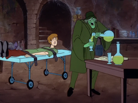 Ghost of Mr. Hyde about to experiment on Shaggy