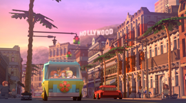 Gang arrive in Hollywood (LEGO)