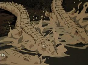 Past alligators (Zombie Island)