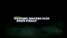 Mystery Solvers Club State Finals title card
