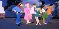 Tour group (Stuntman Scooby)