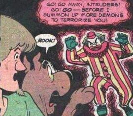 Shag and Scoob meet ghost clown (MC)