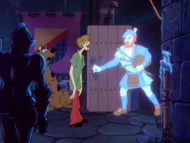 Scooby and Shaggy with the Ghost of Finnyan McDuff