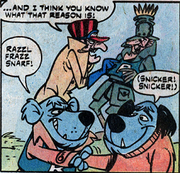 Dick Dastardly and Muttley with their counterparts