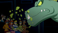 Dinosaur Spirit breathes on audience.png