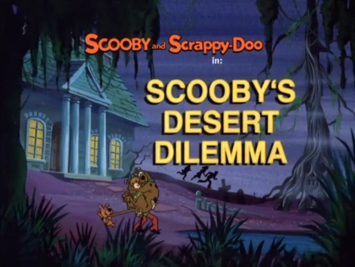 Scooby's Desert Dilemma title card