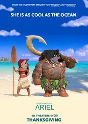 Ariel (Moana) Poster