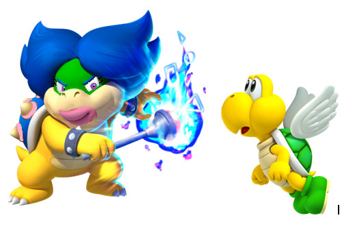 File:Ludwiga and Koopa Paratroopa.PNG