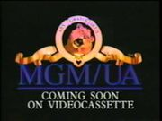 Coming Soon On Videocassette From MGM-UA Home Video