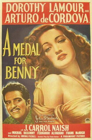 File:1945 - A Medal for Benny Movie Poster.jpg