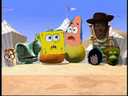 Spongebob patrick are in woody camp