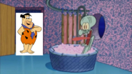 Fred Flinstone Stops By And Squidward Screams