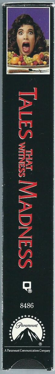 Tales That Witness Madness 1991 VHS (Spine Cover)