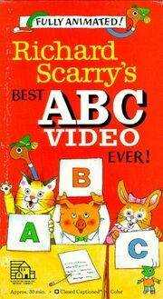 Richard Scarry's Best ABC Video Ever 1989 VHS Cover