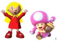 Mary and Toadette