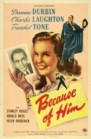 1946 - Because of Him Movie Poster