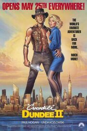 1988 - Crocodile Dundee II Movie Poster 2