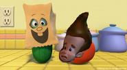 Sheen's mask is happy