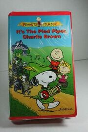 It's The Pied Piper Charlie Brown VHS